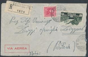 1938 Ajánlott légi levél Olaszországba