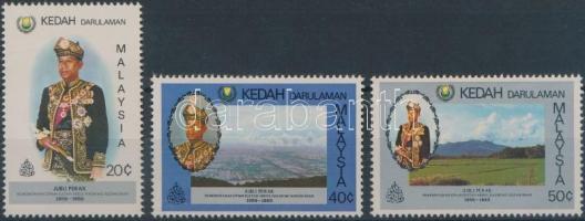 Kedah 1983 A szultán trónra lépésének 25. évfordulója sor Mi 127-129