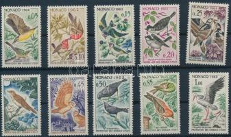 1962 Madár sor Mi 700-709