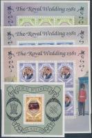 Prince Charles and Lady Diana's wedding (II) minisheet set + block, Károly herceg és Lady Diana esküvője (II.) kisív sor + blokk