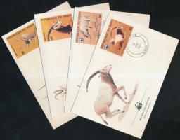 1985 WWF antilopok sor Mi 941-944 4 FDC