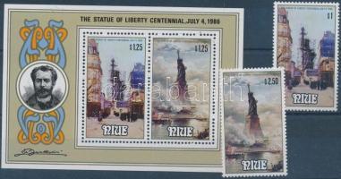 1986 Szabadságszobor sor Mi 667-668 + blokk Mi 102