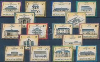 1973/1975 Épületek sor Mi 136-150