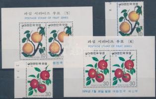 1974 Gyümölcsök ívszéli sor Mi 927-928 + blokksor Mi 385-386