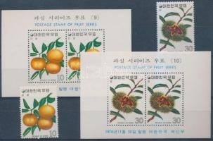 1974 Gyümölcsök sor Mi 951-952 + blokksor Mi 398-399