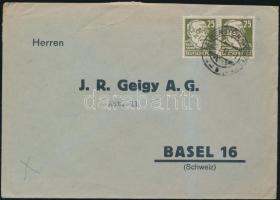 Pár levélen Svájcba Pair on cover to Switzerland