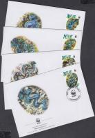 2002 WWF óriáskagylók sor Mi 973-976 4 FDC