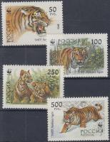 1993 WWF tigris sor + 4 FDC Mi 343-346