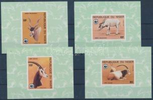 1985 WWF antilop sor vágott blokk formában Mi 941-944