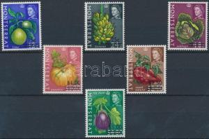 1968 Gyümölcsök és zöldségek sor felülnyomással Mi 192-197 X