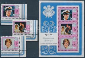 1982 Vilmos herceg ívsarki sor Mi 471-473 + blokk Mi 58
