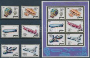 1983 200 éves a repülés sor Mi 511-516 + blokk Mi 66