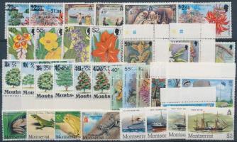 1977-1982 35 db bélyeg, közte teljes sorok, ívszéli értékek