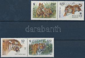 1993 WWF Szibériai tigris 2 pár + 4 FDC Mi 343-346