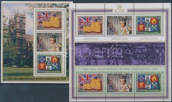 1978 Erzsébet királynő kisív Mi 202-207 + blokk Mi 7