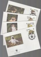 1991 WWF Majomevő sas sor Mi 2038-2041 4 FDC
