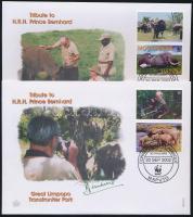 2002 WWF Afrikai elefánt szelvényes sor Mi 2393-2396 4 FDC