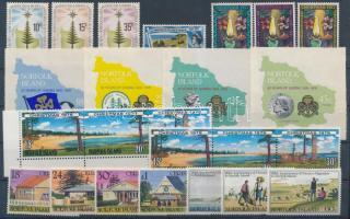 1975-1981 24 db bélyeg, közte teljes sorok, összefüggések és öntapadós értékek