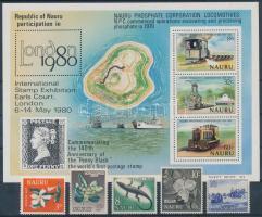1954-1980 5 db bélyeg + 1 db blokk