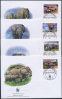 2002 WWF Afrikai elefánt sor Mi 2393-2396 4 FDC