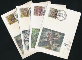 1988 WWF kisméretű macskák sor Mi 1734-1737 4 FDC