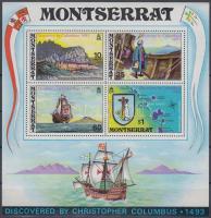 1973 Montserrat felfedezésének 480. évfordulója blokk Mi 3