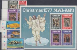 1977 7 db bélyeg és 1 blokk