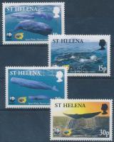 WWF sperm whale set + 4 FDC, WWF ámbráscet sor + 4 FDC