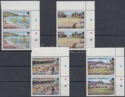 1986 Turizmus ívsarki sor párokban Mi 658-661