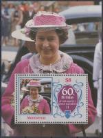 1986 II. Erzsébet királynő 60. születésnapja blokk Mi 34