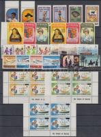 1981-1984 40 db bélyeg, közte teljes sorok, ívszéli értékek és 4-es tömbök, 2 db stecklapon