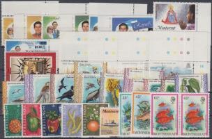 1965-1985 36 db bélyeg, közte teljes sorok, ívsarki értékek és összefüggések