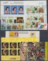 1966-1996 11 db bélyeg, közte teljes sorok + 3 db blokk + 2 db kisív, 2 db stecklapon