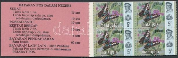 Johor 1971 Lepkék bélyegfüzet Mi 163, 165, 166
