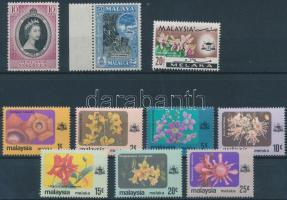 Malakka 1953-1979 10 db bélyeg, közte teljes sor