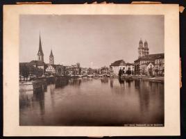 cca 1890 Zürich, városkép, 21x27 cm, karton 25x33 cm / cca 1890 Zürich, Switzerland, 21x27 cm