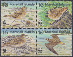 1997 WWF Tahiti póling négyestömb + 4 FDC Mi 830-833