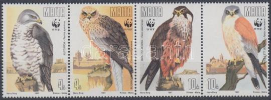 1991 WWF ragadozómadarak négyescsík + 4 FDC Mi 864-867