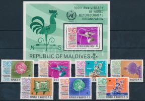 1973 100 éves a Meteorológiai Világszervezet sor Mi 479-485 + blokk 21