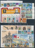 1976-1982 36 db bélyeg, közte teljes sorok, ívszéli és ívsarki értékek, összefüggések + 8 db blokk+ 1 db FDC