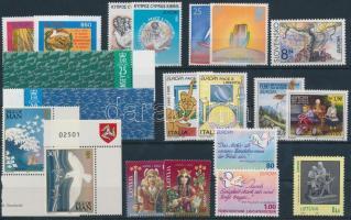 Europa CEPT issues from 11 diff countries : 20 stamps, Europa CEPT 11 klf ország kiadása: 20 klf bélyeg