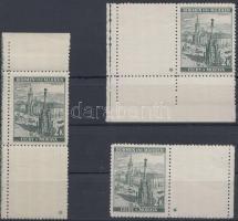 Böhmen und Mähren 1939 2K jobb és bal oldali ívsarki ill. ívszéli vízszintes üresmezős bélyeg 1-1 csillaggal + 1 ívsarki függőleges 1 csillagos üresmezős bélyeg Mi 31