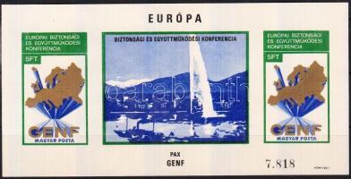 1974 Genf vágott blokk (22.000)