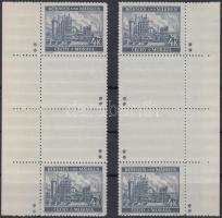 Böhmen und Mähren 1939 4K jobb és bal oldali ívszéli függőleges 2 üresmezős pár 4x2-2 csillaggal Mi 34b ZS