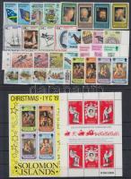 1978-1979 31 db bélyeg, közte teljes sorok és ívszéli értékek + 1 db blokk + 1 db kisív