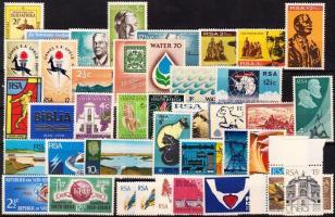 1965-1973 41 db bélyeg, közte teljes sorok és ívszéli értékek