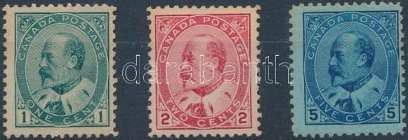 1903 VII. Edward sor Mi 77-79 A (besárgult bélyegek)