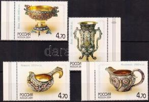 2004 Ezüst edények ívszéli sor Mi 1212-1215