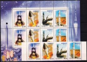 2004 Űrkutatás ívszéli négyescsík + kisív Mi 1220-1223
