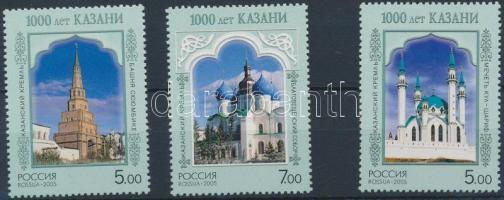 2005 1000 éves Kazan városa sor Mi 1240-1242